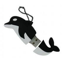 Флешка Дельфин черный