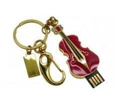 Флешка Скрипка красная с карабином