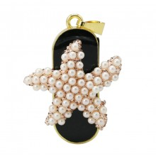 Флешка Морская звезда из жемчужин брелок