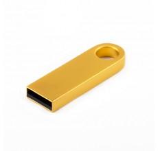 Флешка Мини с кольцом золото