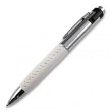 Флешка Ручка кожаная белая