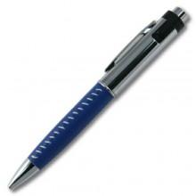 Флешка Ручка кожаная синяя