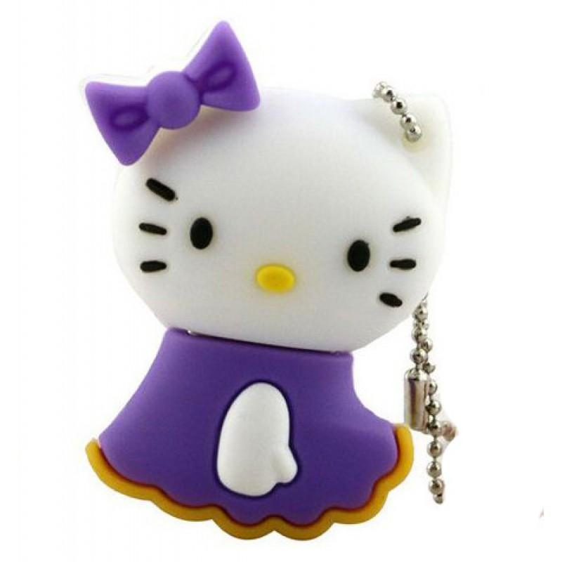 Флешка Hello Kitty в фиолетовом платьице 10556