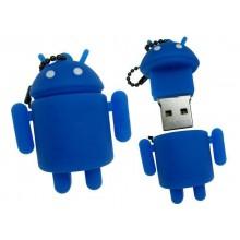 Флешка Робот Андроид синий 10730