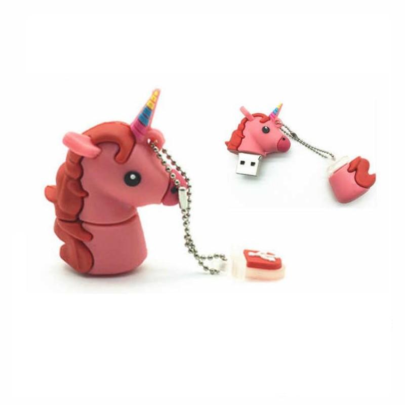 Флешка Единорог розовый 11338