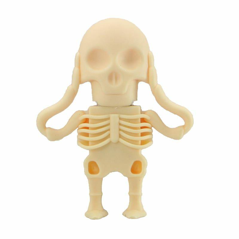 Флешка Скелетон белый