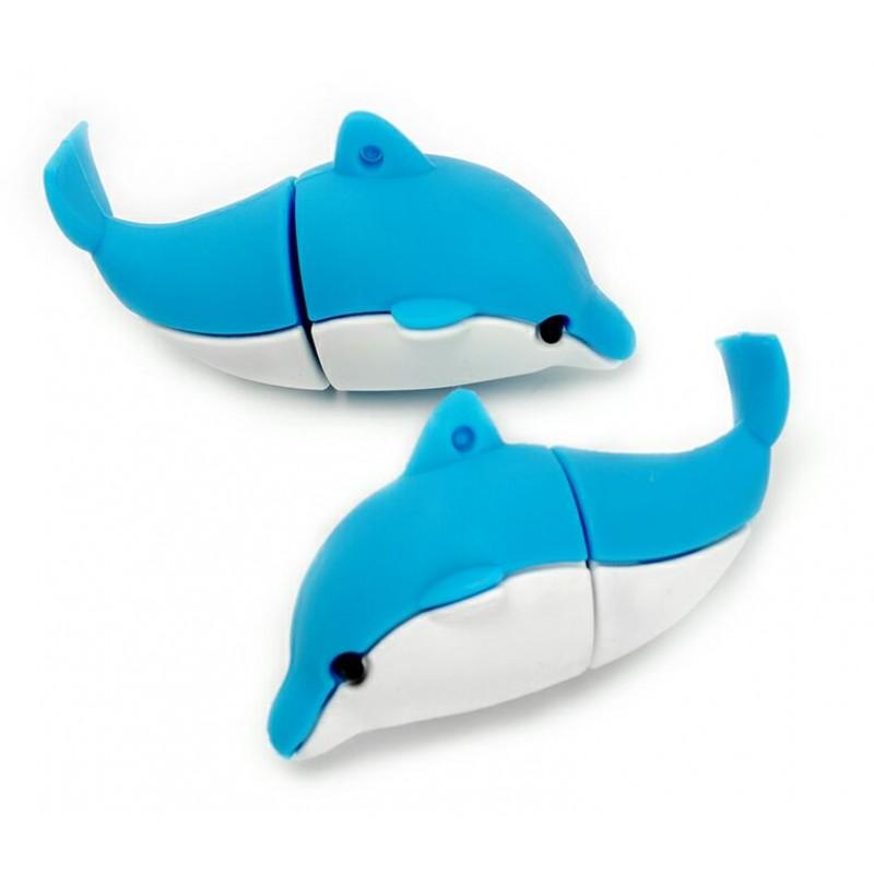 Флешка Дельфин синий 11509