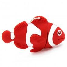 Флешка Рыбка Клоун красная