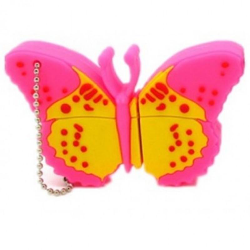 Флешка Бабочка розовая