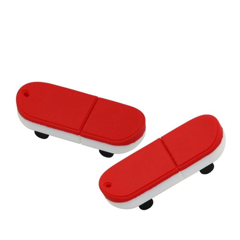 Флешка Скейтборд красный