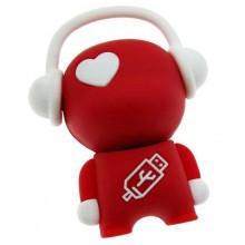Флешка Меломан 11635 красный