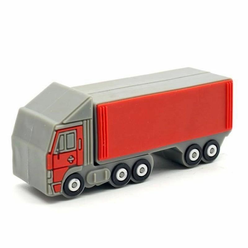 Флешка Автомобиль грузовик красный