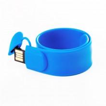 Флешка Браслет SLAP силиконовый синий