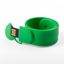 Флешка Браслет SLAP силиконовый зеленый