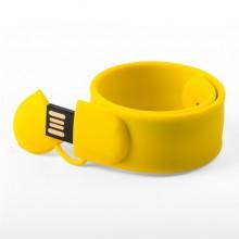 Флешка Браслет SLAP силиконовый желтый