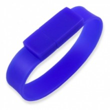 Флешка Браслет силиконовый синий