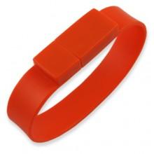Флешка Браслет силиконовый красный