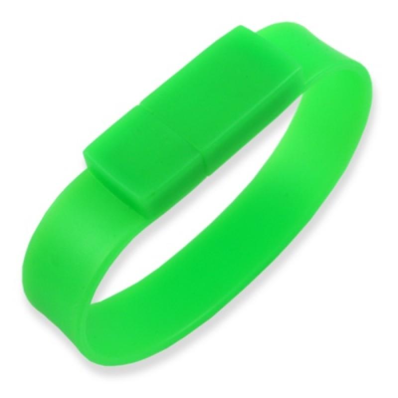 Флешка Браслет силиконовый зеленый