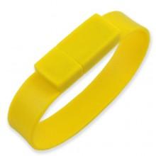 Флешка Браслет силиконовый желтый
