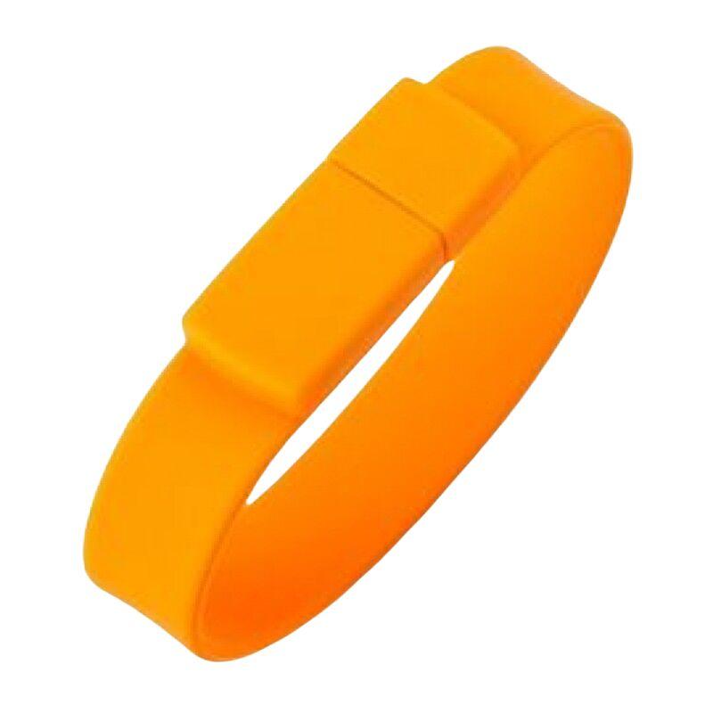 Флешка Браслет силиконовый оранжевый