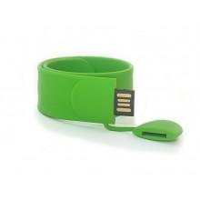 Флешка Браслет SLAP силиконовый светло-зеленый