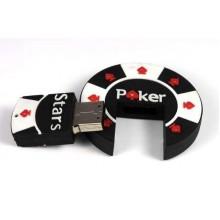 Флешка Фишка для покера черная