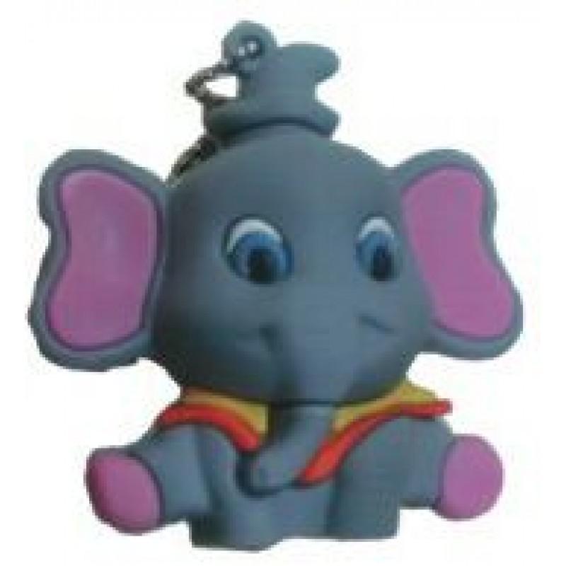 Флешка Слоненок серый