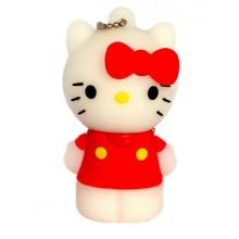 Флешка Hello Kitty стоящая в красной маечке 10704