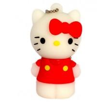 Флешка Hello Kitty стоящая в сиреневой маечке 10704