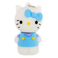 Флешка Hello Kitty стоящая в голубой маечке 10705