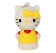 Флешка Hello Kitty стоящая в желтой маечке 10706