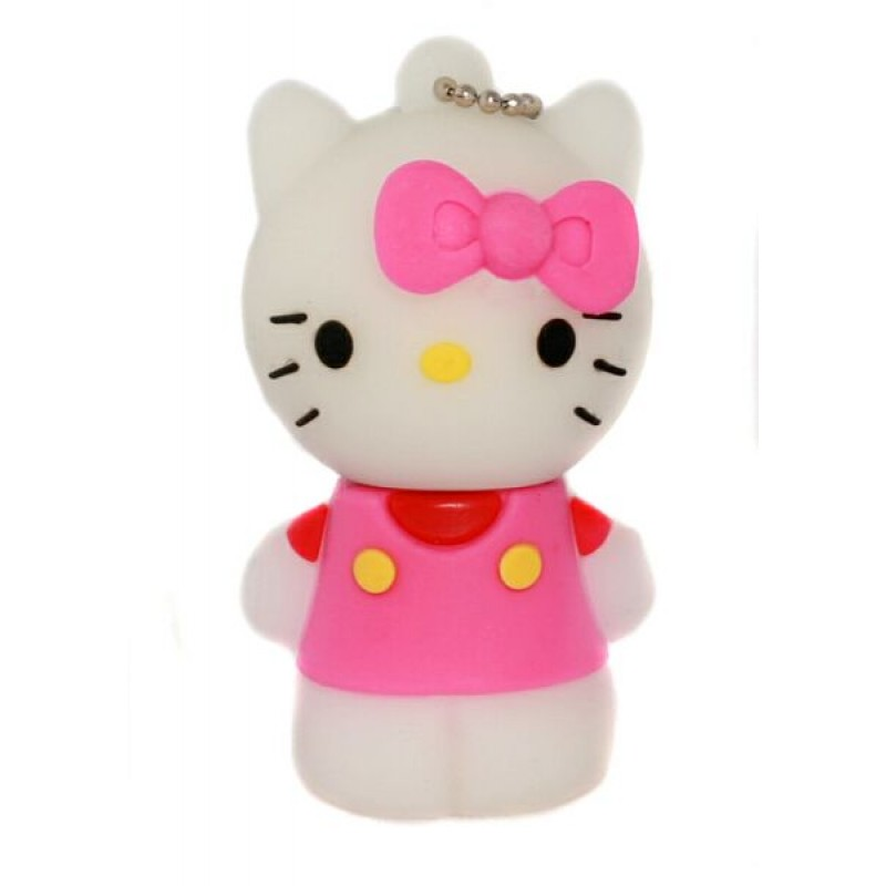 Флешка Hello Kitty стоящая в розовой маечке 10707