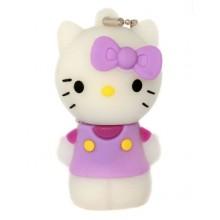 Флешка Hello Kitty стоящая в сиреневой маечке 10708
