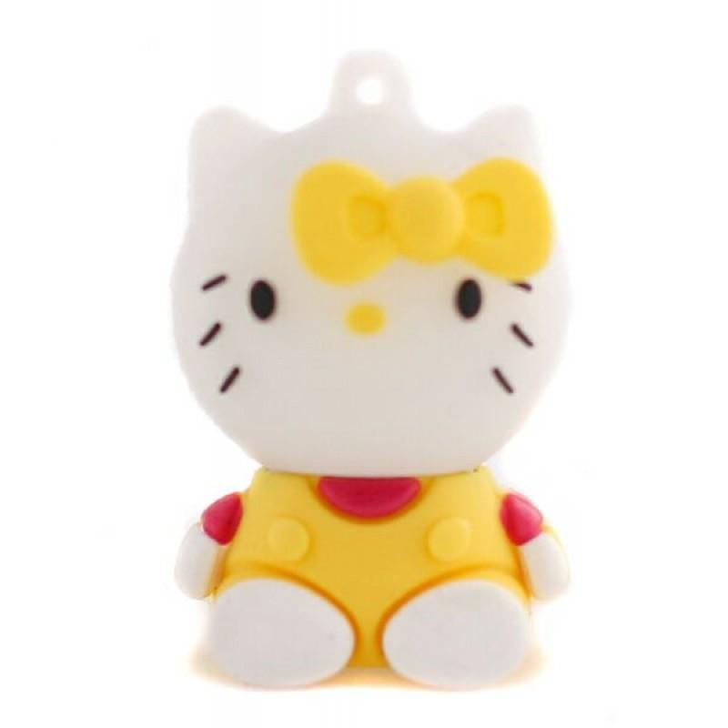 Флешка Hello Kitty сидящая в желтой маечке 10709