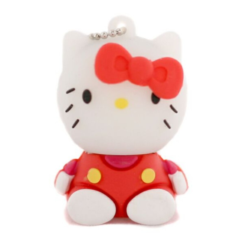 Флешка Hello Kitty сидящая в красной маечке 10710