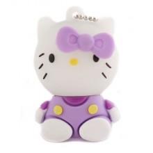Флешка Hello Kitty сидящая в сиреневой маечке 10711