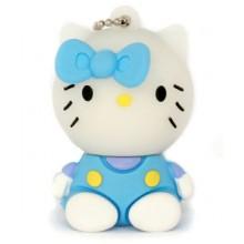 Флешка Hello Kitty сидящая в голубой маечке 10712
