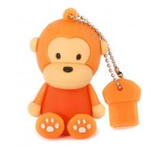 Флешка Обезьянка сидящая оранжевая 10464