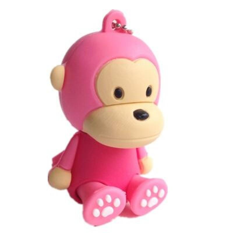 Флешка Обезьянка сидящая розовая 10465