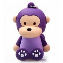 Флешка Обезьянка сидящая фиолетовая 10466