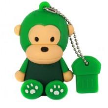 Флешка Обезьянка сидящая зеленая 10467