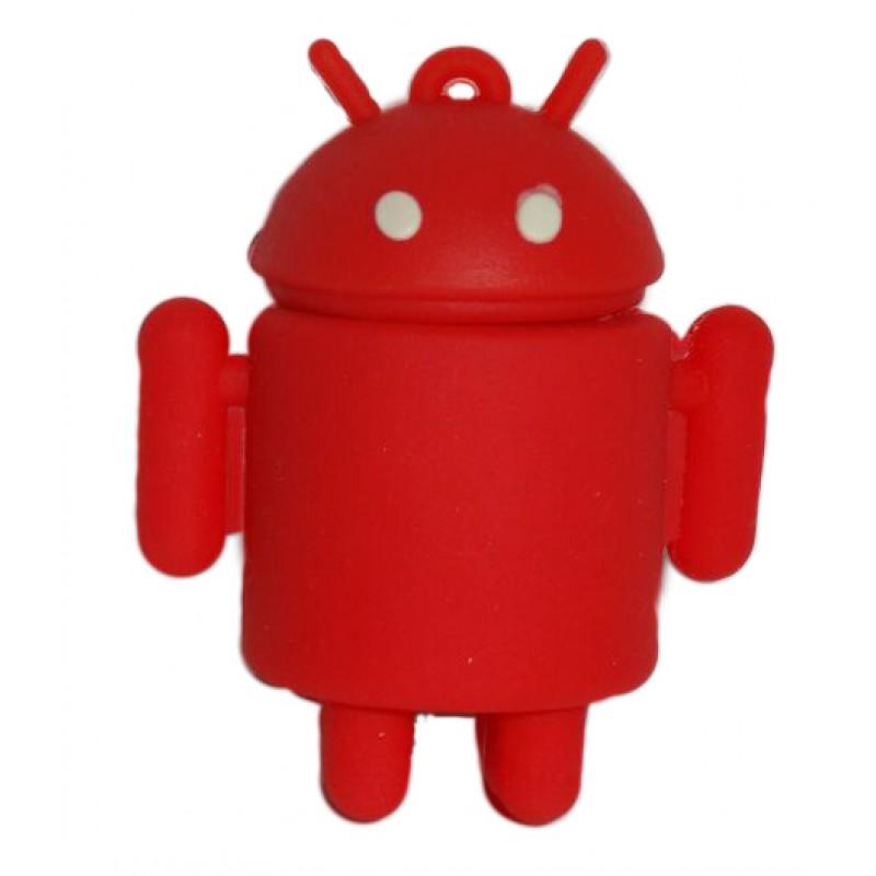 Флешка Робот Андроид красный 10727