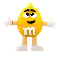Флешка M&m`s желтый