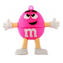 Флешка M&m`s розовый
