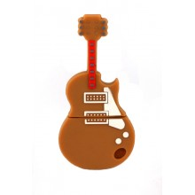 Флешка музыкальная. Электрогитара коричневая 10897