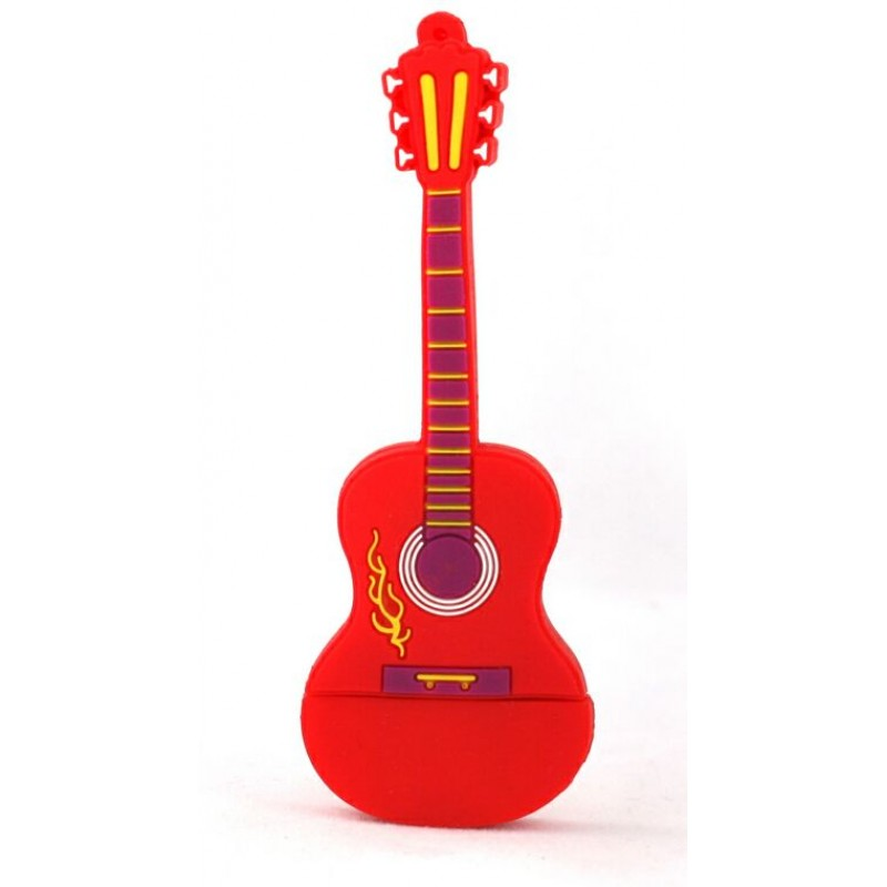 Флешка музыкальная. Гитара классическая красная 10500