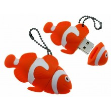 Флешка Рыбка Клоун оранжевая