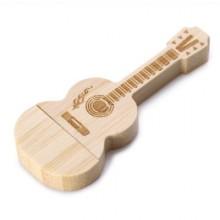 Флешка музыкальная. Гитара классическая дерево 11615