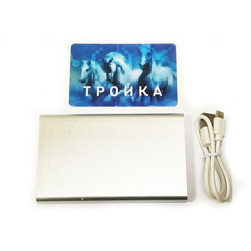 PB-110 4000 mAh металл серебристый, Powerbank