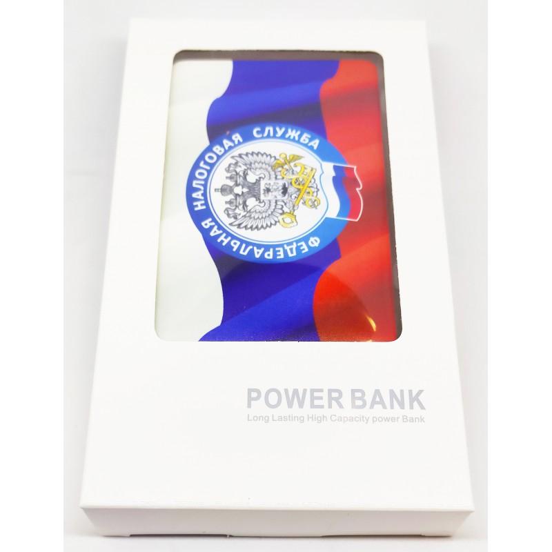 Внешний аккумулятор (powerbank) ГЕРБ ФНС, 2500 mAh